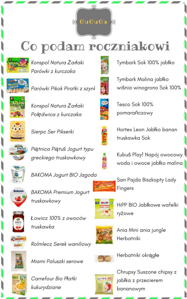 dieta rocznego dziecka - czytaj skład